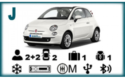 Arash Rent a Car - Fiat 500 convertible
