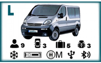 Arash Rent a Car - Opel Vivaro or similar (9 seater)